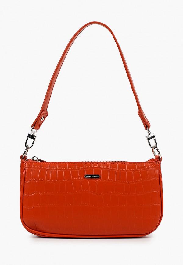 женская сумка через плечо david jones, оранжевая
