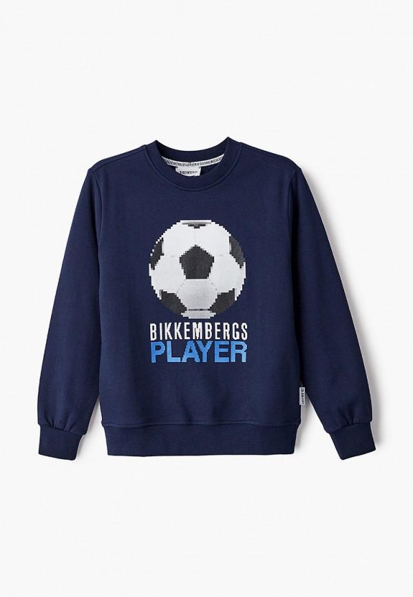 свитшот bikkembergs для мальчика, синий