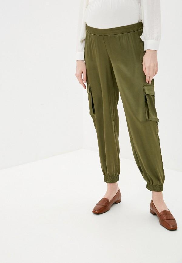 женские брюки mamalicious, хаки