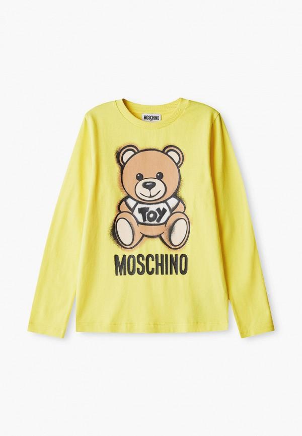 лонгслив moschino kid малыши, желтый
