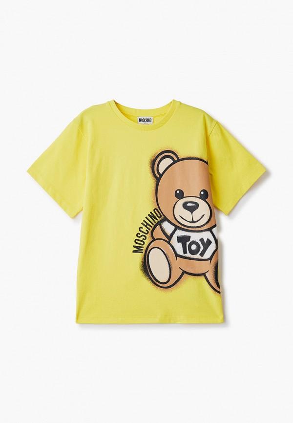 футболка с коротким рукавом moschino kid малыши, желтая