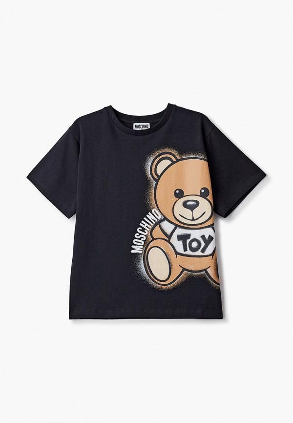 футболка с коротким рукавом moschino kid малыши, черная