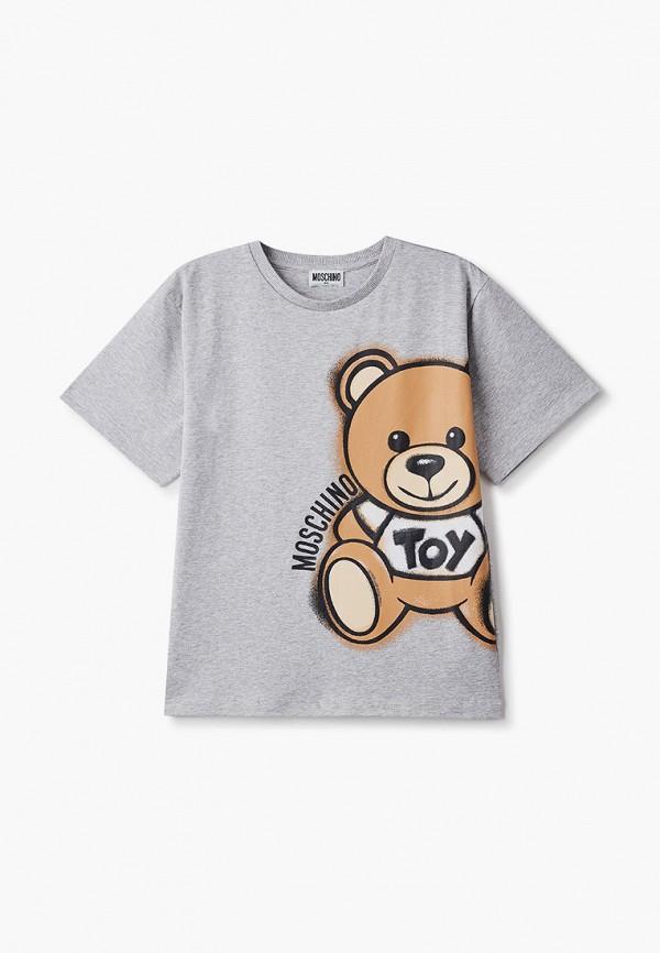 футболка с коротким рукавом moschino kid малыши, серая