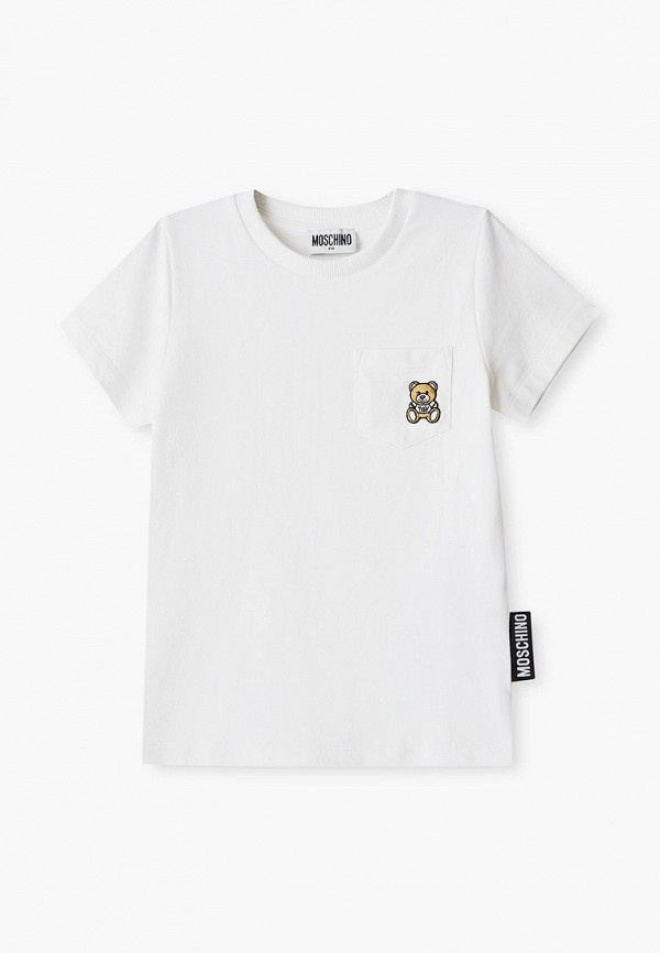 футболка с коротким рукавом moschino kid малыши, белая