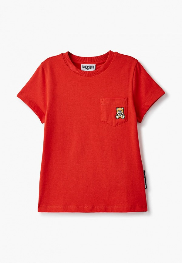 футболка с коротким рукавом moschino kid малыши, красная