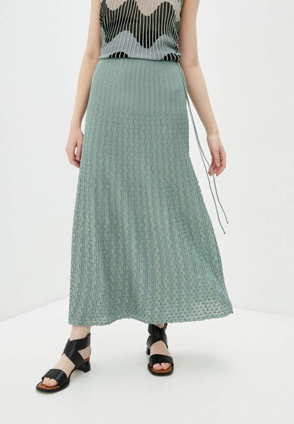 женская юбка m missoni, зеленая
