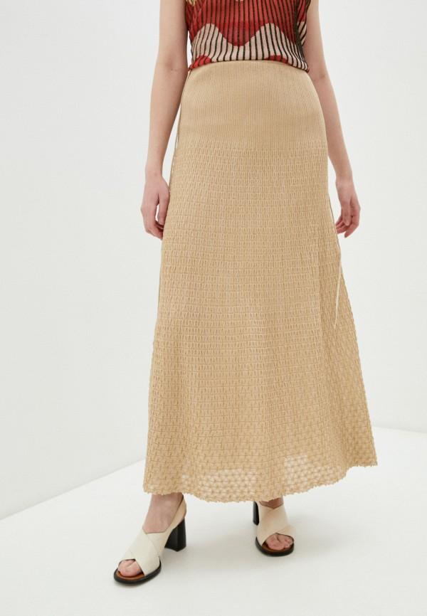 женская юбка m missoni, бежевая