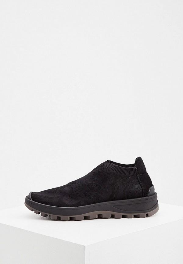 женские низкие кроссовки etro, черные