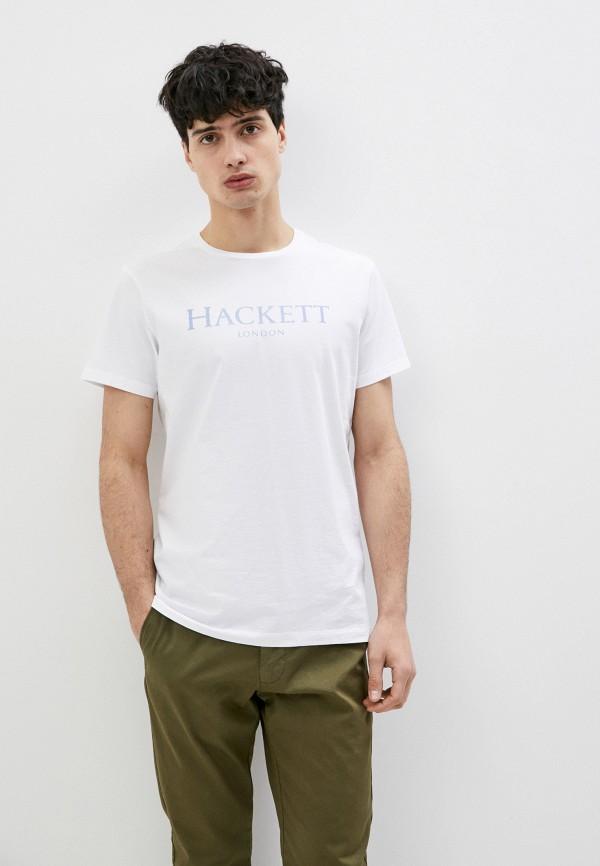 мужская футболка hackett london, белая