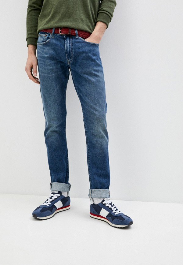 мужские прямые джинсы polo ralph lauren, синие