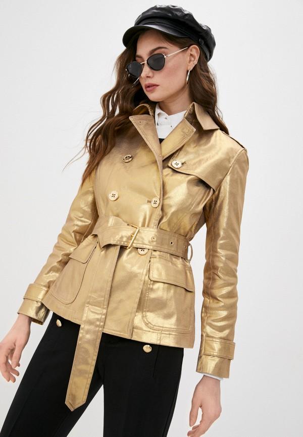 женская куртка lauren ralph lauren, золотая