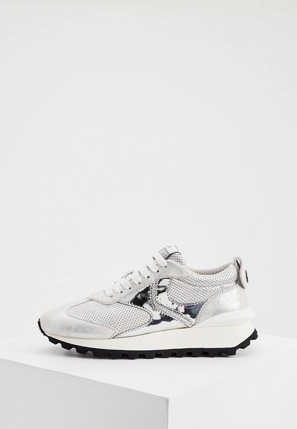 женские кроссовки voile blanche, серебряные