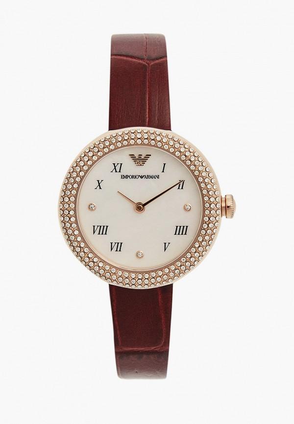 женские часы emporio armani, бордовые