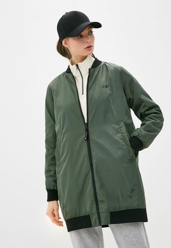 женская куртка 4f, зеленая