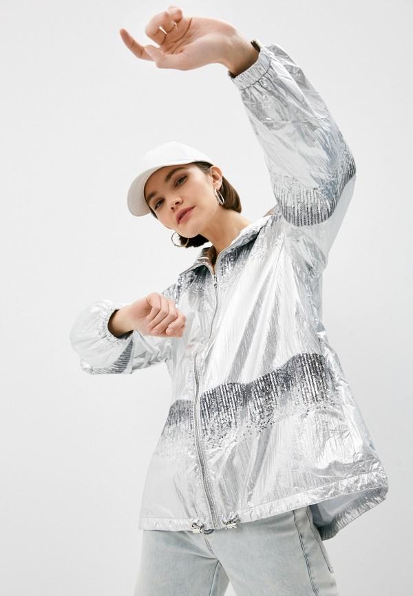 женская ветровка pinko, серебряная
