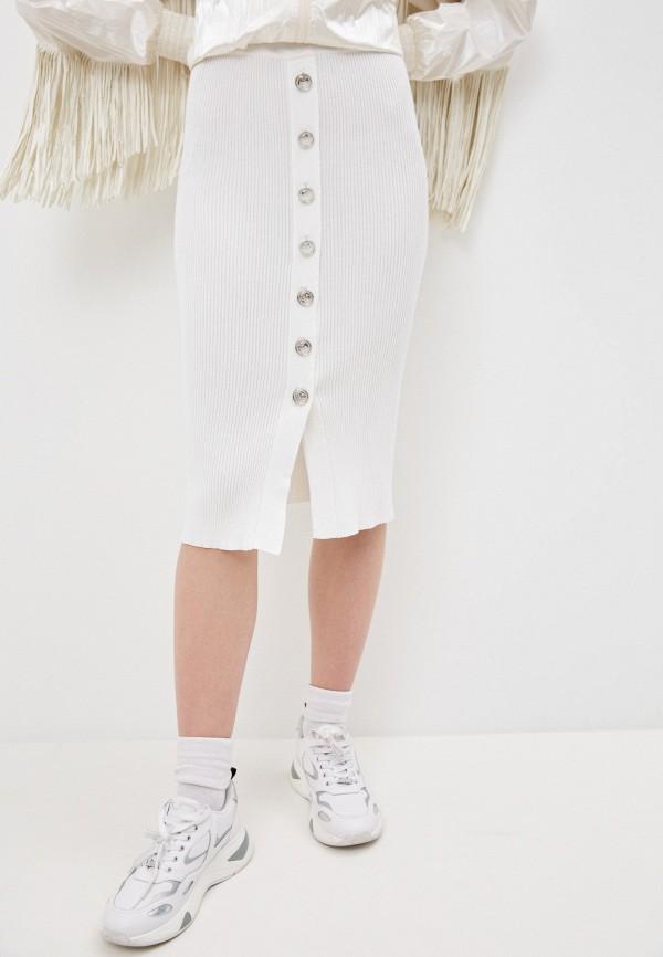 женская зауженные юбка pinko, белая