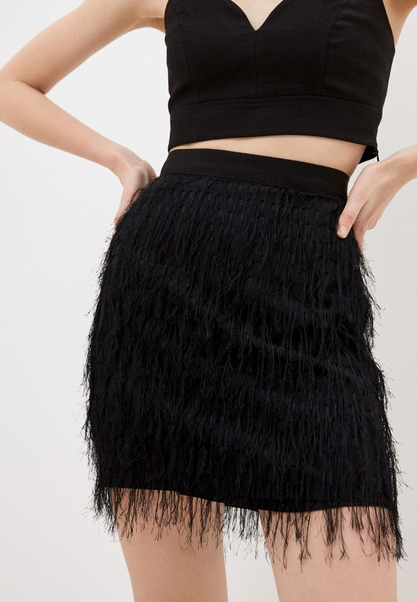 женская прямые юбка pinko, черная
