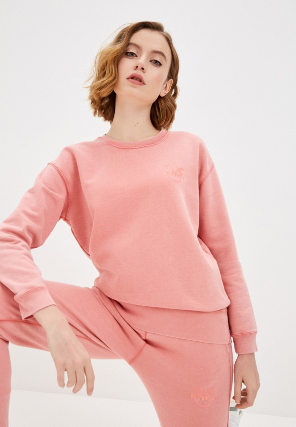 женский свитшот pinko, розовый