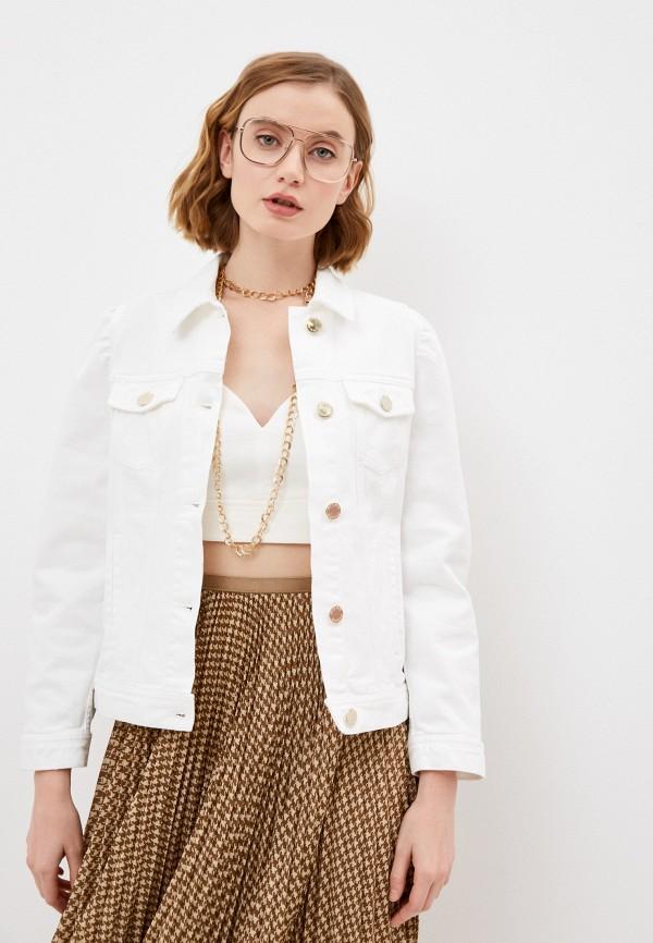 женская джинсовые куртка pinko, белая