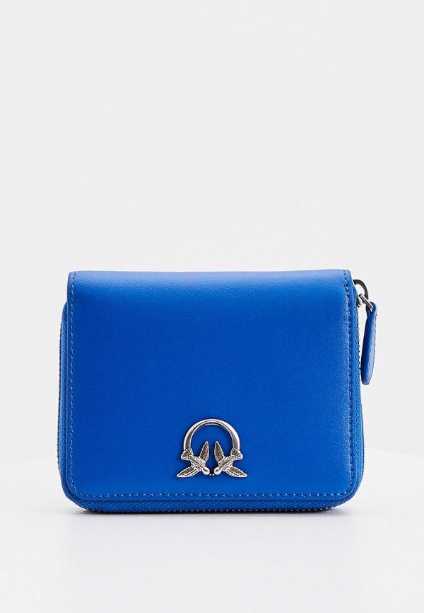 женский кошелёк pinko, синий