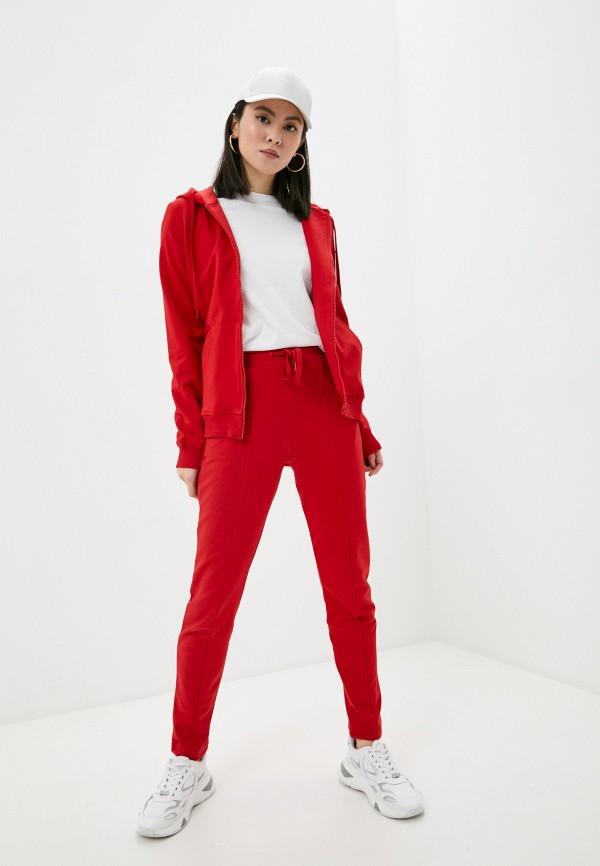 женский спортивный костюм love moschino, красный