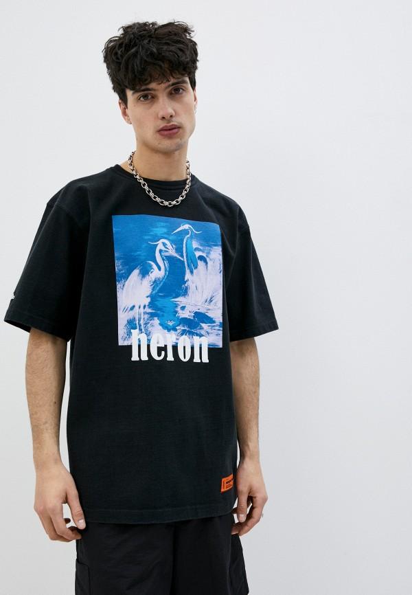 мужская футболка heron preston, черная