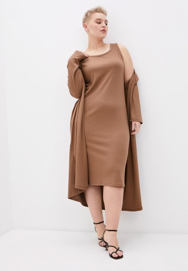 женский кардиган trendyangel, коричневый
