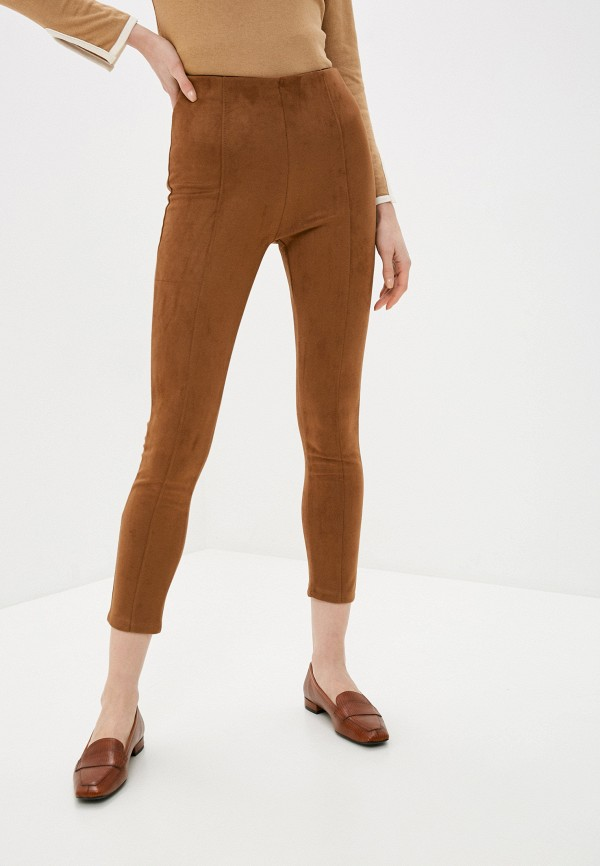 женские леггинсы zabaione, коричневые