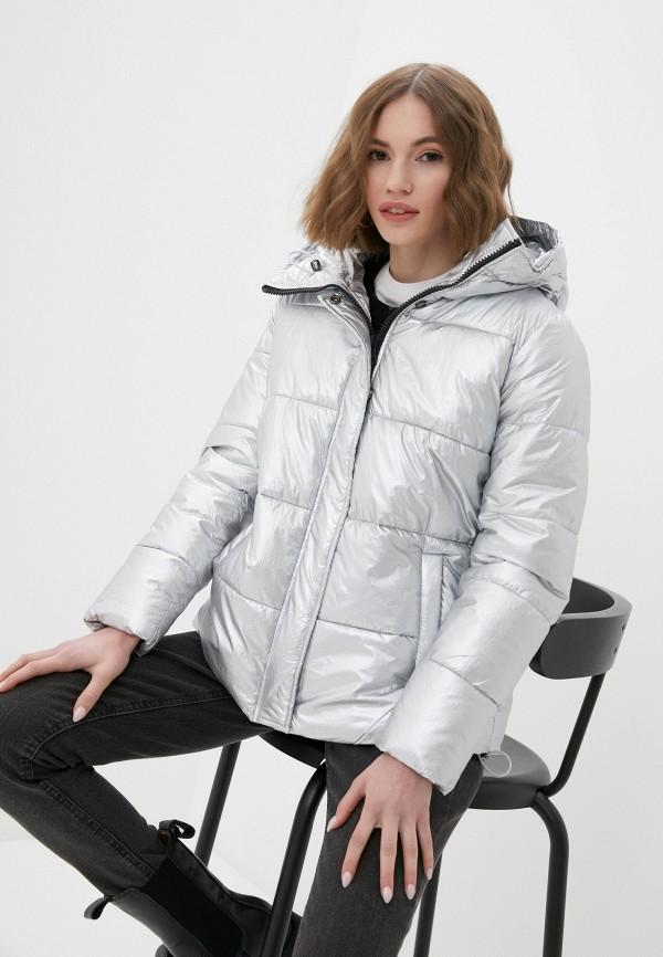 женская утепленные куртка haily's, серебряная
