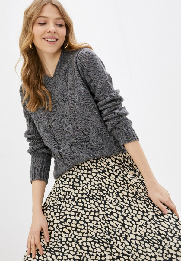 женский пуловер zabaione, серый
