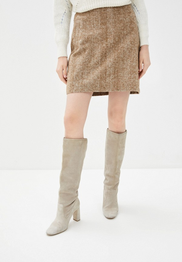женская зауженные юбка zabaione, коричневая