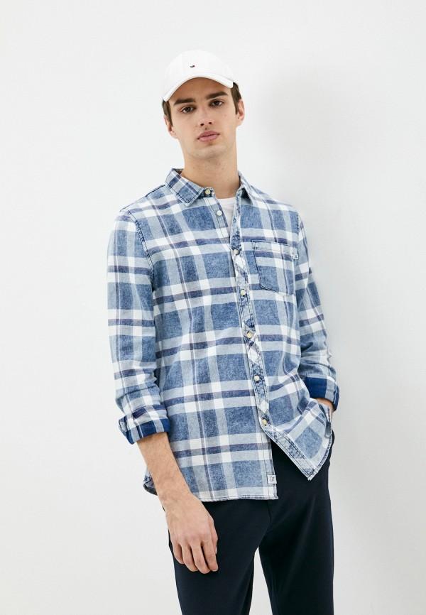 мужская рубашка с длинным рукавом haily's, синяя
