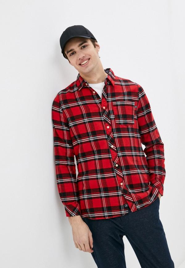 мужская рубашка с длинным рукавом haily's, красная