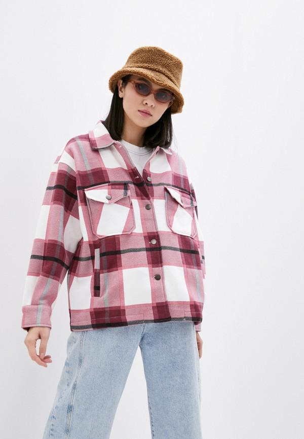 женская рубашка с длинным рукавом haily's, розовая