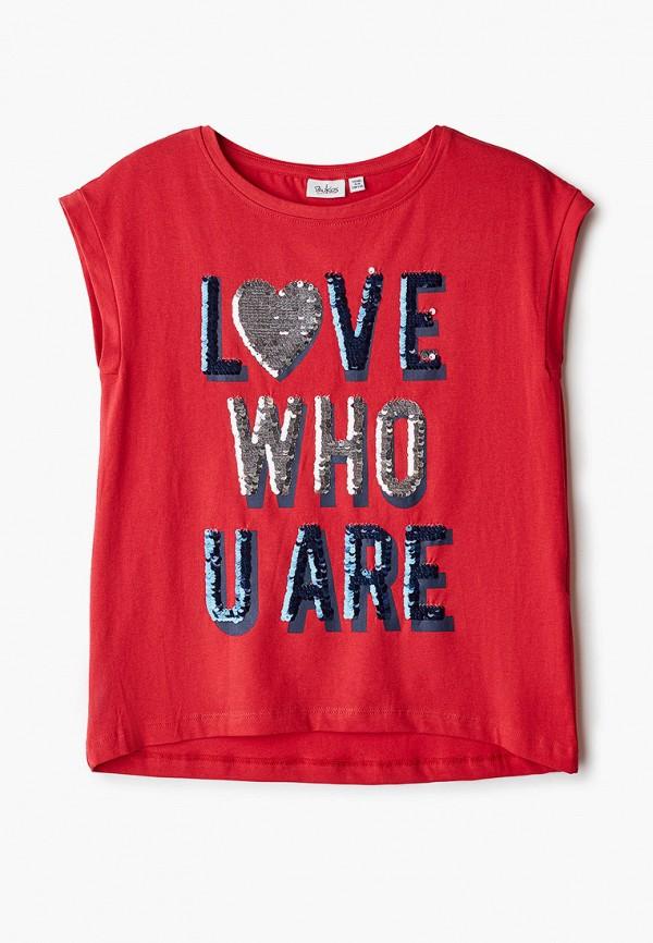 футболка с коротким рукавом blukids для девочки, красная