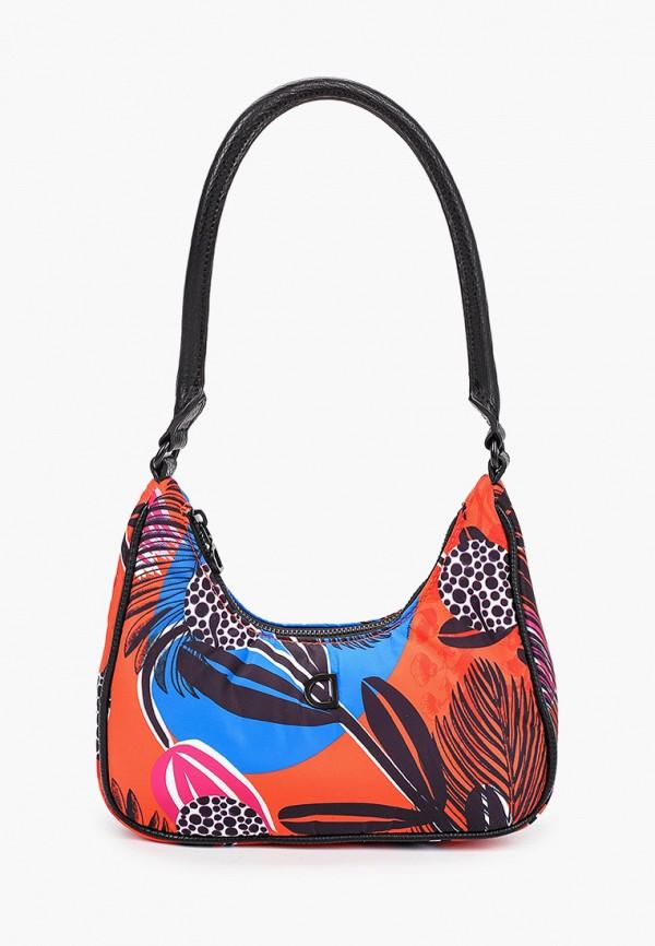 женская сумка с ручками desigual, оранжевая