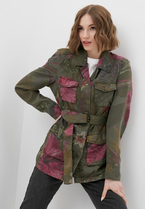 женская куртка desigual, хаки