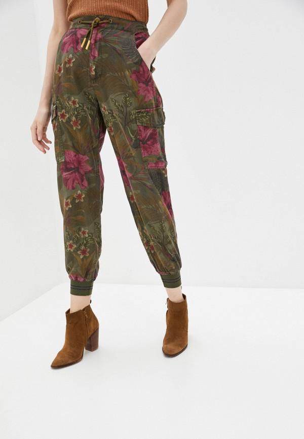 женские брюки desigual, хаки