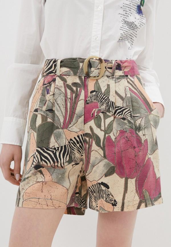 женские повседневные шорты desigual, разноцветные