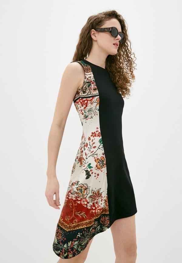 женское платье desigual, черное