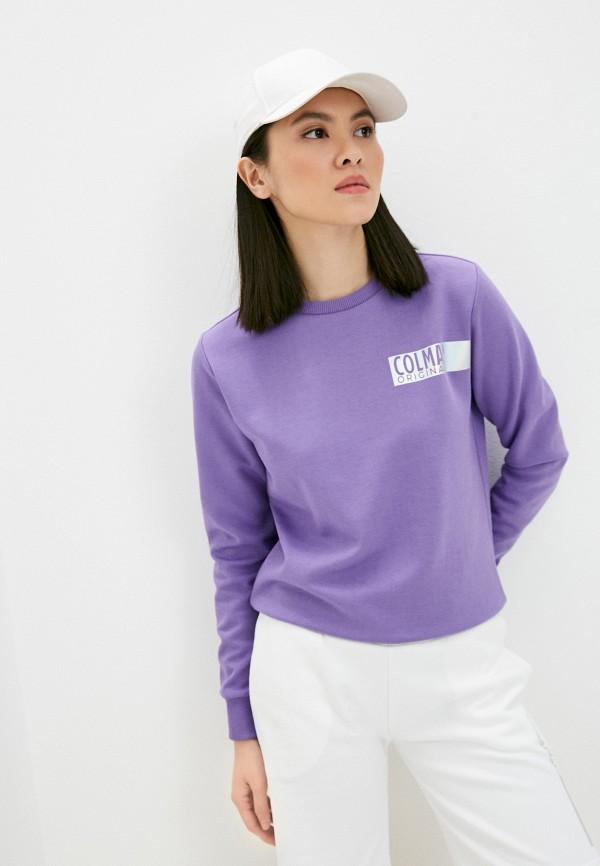 женский свитшот colmar, фиолетовый