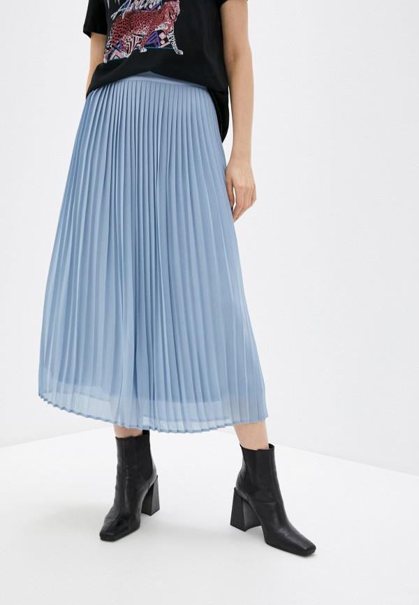 женская юбка vila, голубая