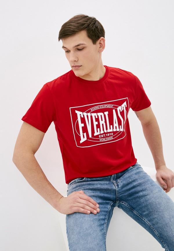 мужская спортивные футболка everlast, красная