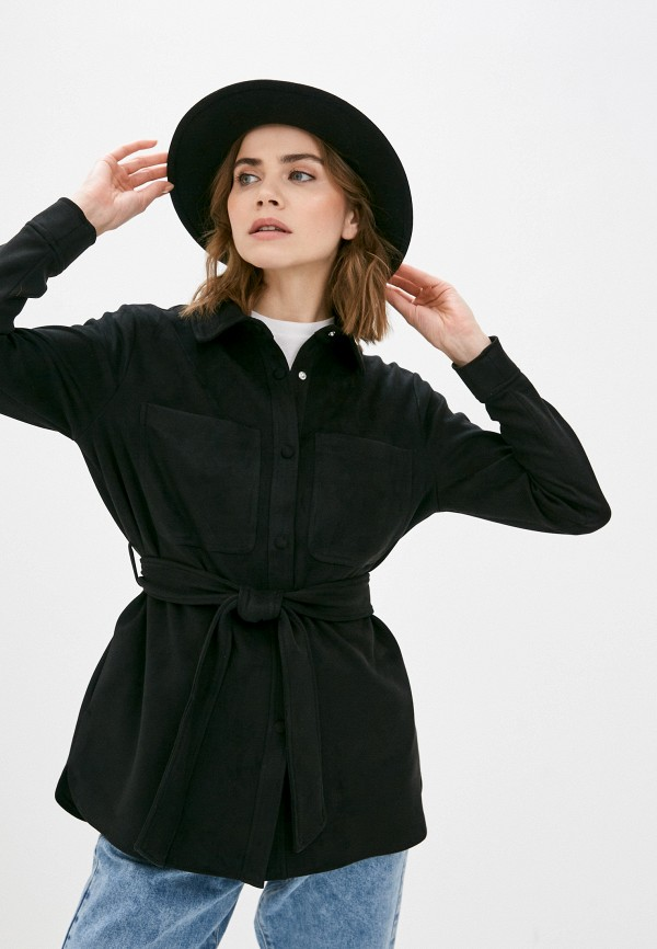 женская рубашка с длинным рукавом vero moda, черная