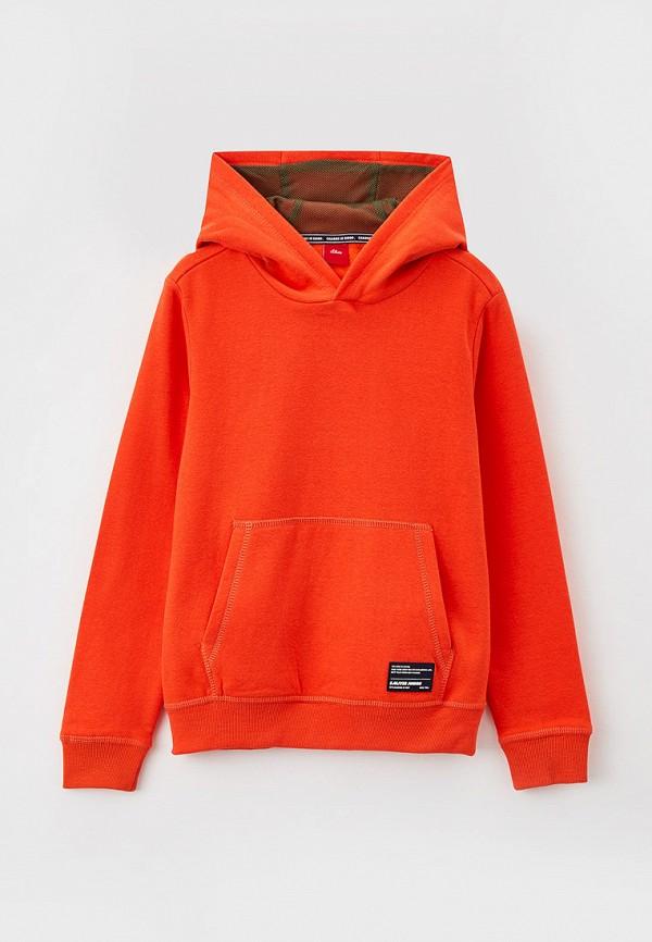 худи s.oliver для мальчика, оранжевые