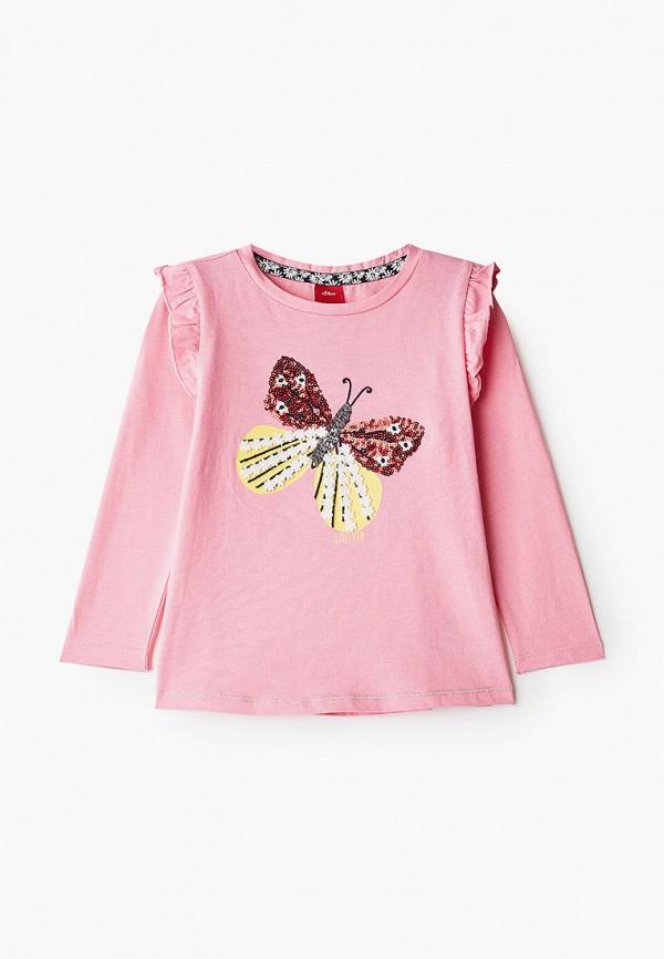 лонгслив s.oliver для девочки, розовый