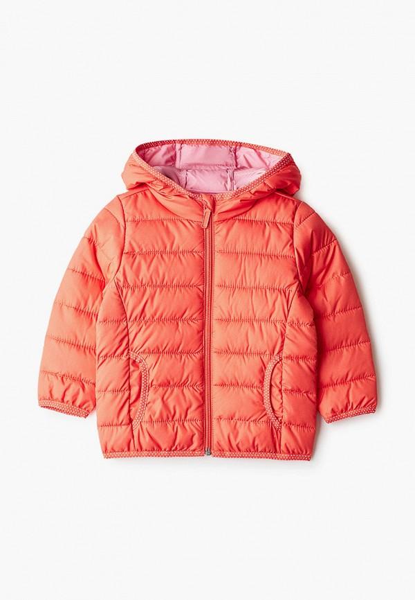 утепленные куртка s.oliver для девочки, оранжевая