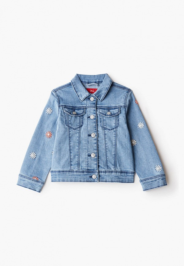 джинсовые куртка s.oliver для девочки, голубая