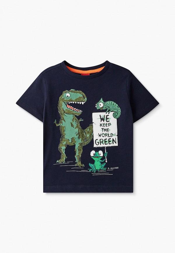 футболка с коротким рукавом s.oliver для мальчика, синяя