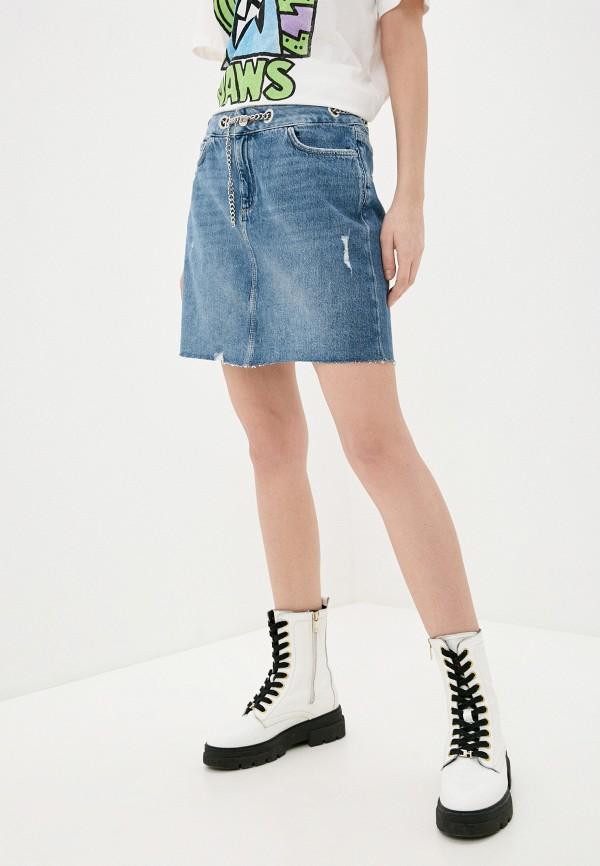 женская джинсовые юбка q/s designed by, синяя